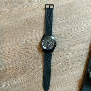 Guess silicone multifunction watch